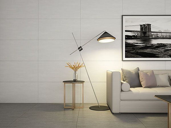 Mẫu gạch ốp tường màu trắng xám mang đến sự thanh lịch