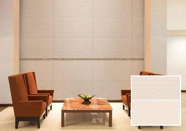 Chọn gạch điểm đơn giản làm điểm nhấn cho phòng khách