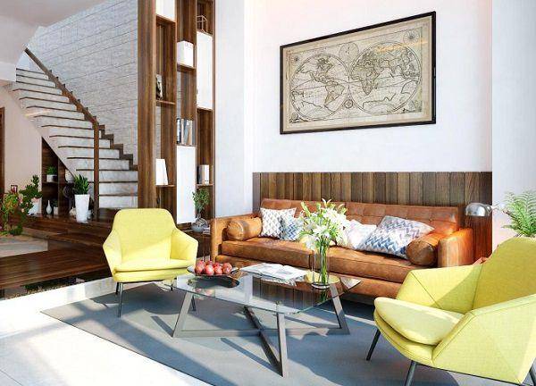 TOP mẫu gạch ốp tường phòng khách nhà cấp 4 Đẹp – Ấn tượng nhất