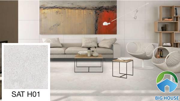 Gạch ốp tường phòng khách nhà ống Viglacera SAT H01