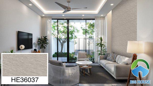 Gạch ốp tường phòng khách nhà ống Bạch Mã HE36037