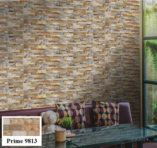 Mẫu gạch trang trí phòng khách Prime 9813 với bề mặt nhám mang phong cách cổ điển