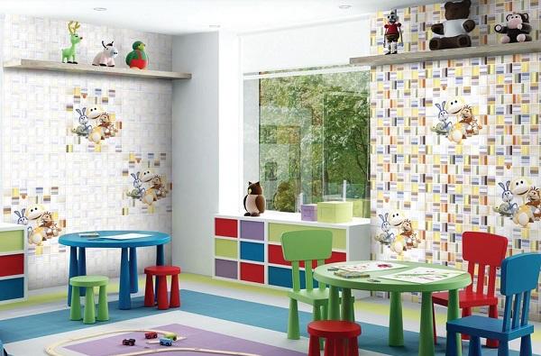 Cách chọn Gạch ốp tường phòng ngủ cho bé và TOP phối cảnh Đẹp