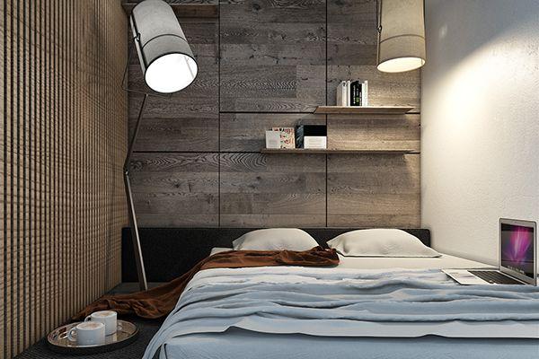gạch ốp tường phòng ngủ nhỏ