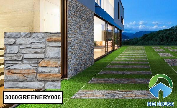 Gạch ốp tường sân vườn giả cổ 3060GREENERY006