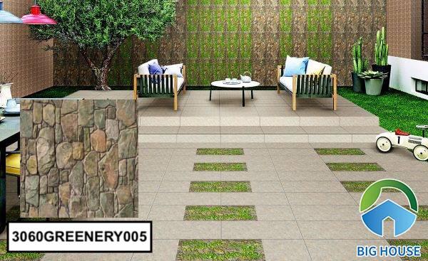 Gạch ốp tường sân vườn giả cổ 3060GREENERY005