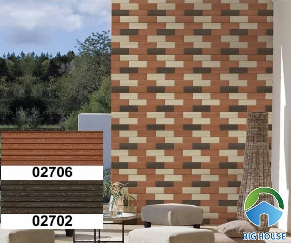 Gạch ốp tường sân vườn giả thẻ 02706 - 02702