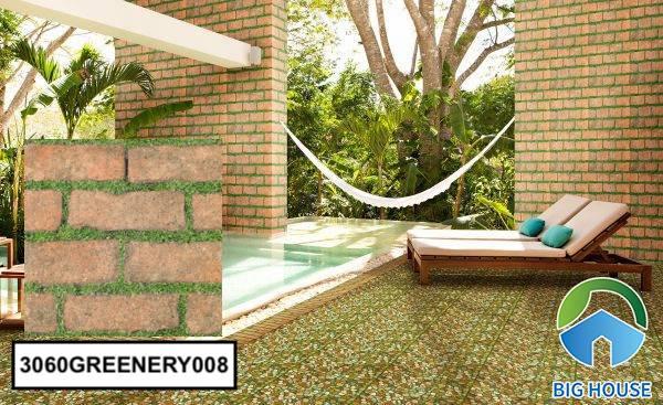 Gạch ốp tường sân vườn giả thẻ 3060GREENERY008