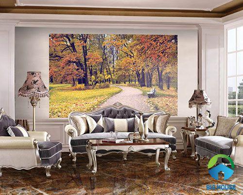 mẫu gạch ốp tường trang trí phòng khách