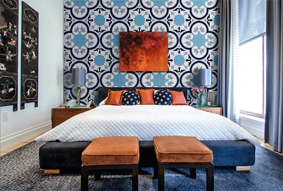 gạch ốp tường trang trí phòng ngủ