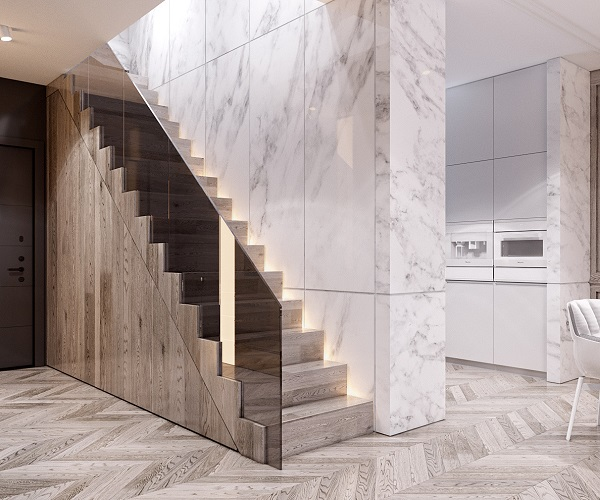 32 Mẫu gạch ốp tường, vách, chân cầu thang Tuyệt Đẹp 2021