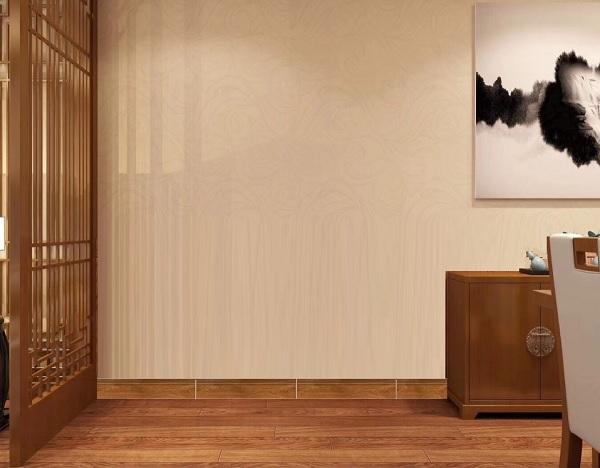 gạch ốp viền chân tường 12x80 giả gỗ cùng tông với màu nền