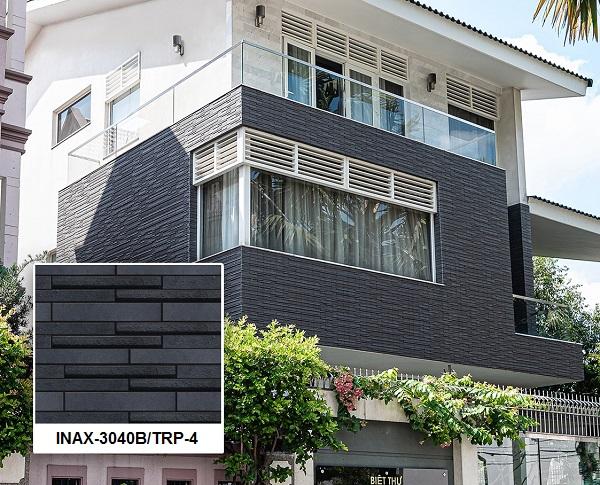 Mẫu gạch thẻ ốp tường ngoại thất Inax-3040B/TRP-4 với tông màu xám sang trọng
