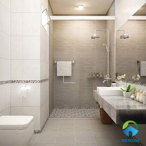 gạch toilet đơn giản cho không goan sang trọng