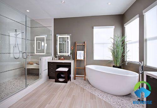 mẫu gạch toilet giả gỗ tinh tế