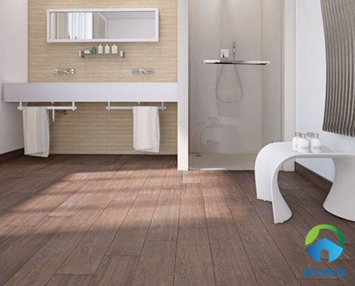 gạch toilet giả gỗ