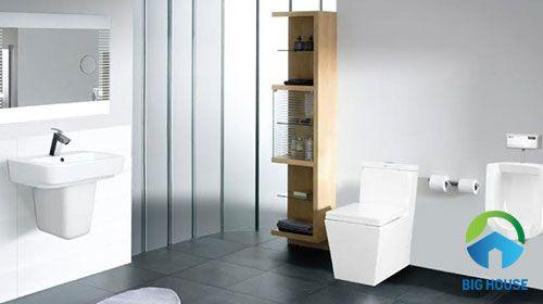 mẫu gạch lát nền toilet màu xám