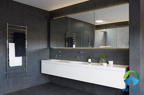 mẫu gạch toilet màu xám tinh tế