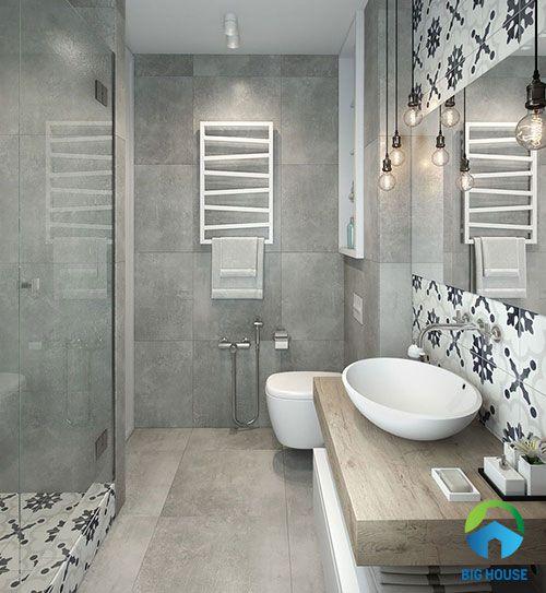 mẫu gạch toilet màu xám chất lượng