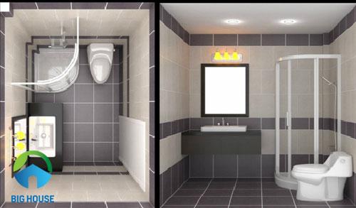 mẫu gạch lát toilet màu xám
