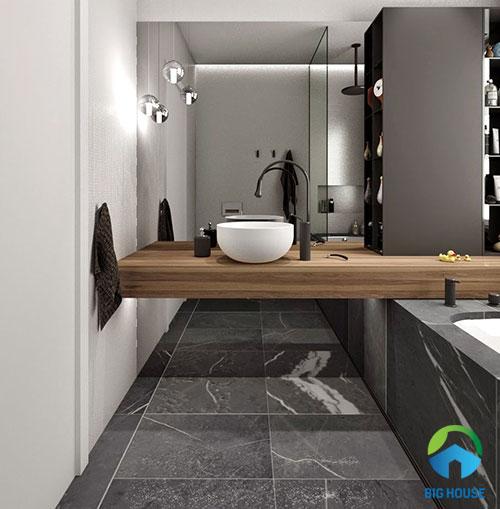 mẫu gạch toilet màu xám