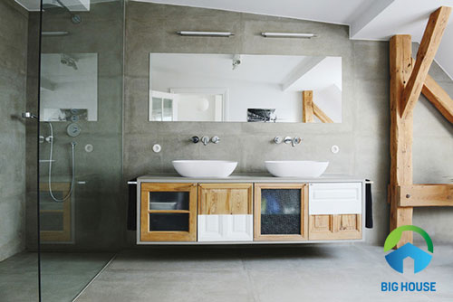 gạch toilet màu xám độc đáo nhất