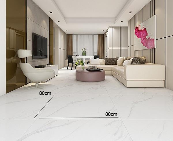giá gạch 80x80 phòng khách