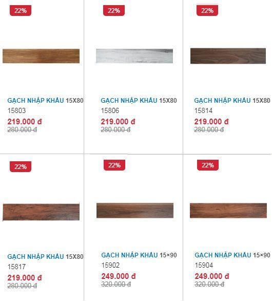 Giá gạch giả gỗ lát nền