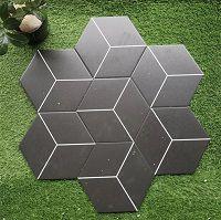 Giá gạch lục giác màu đen đẹp mắt