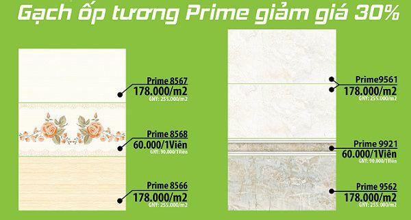 Bảng giá gạch ốp tường Prime Chất lượng