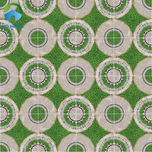 Hút mắt người nhìn với map gạch cỏ có họa tiết hình học độc - lạ