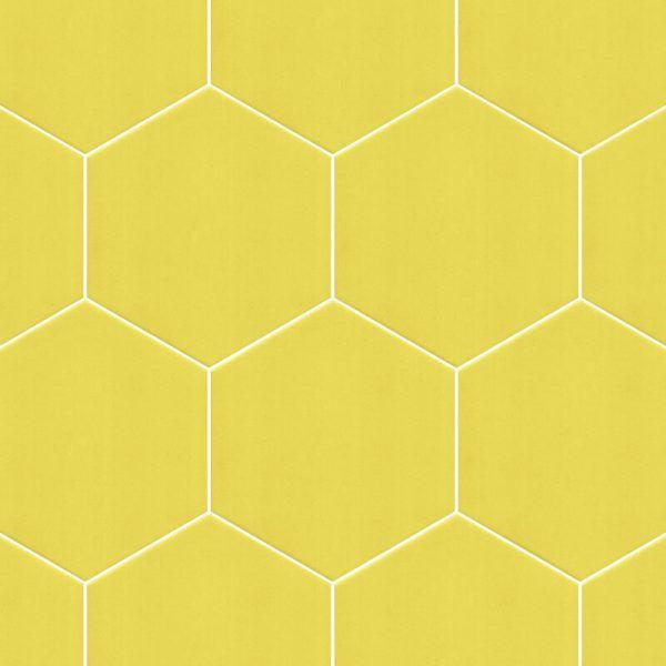 Không gian nội thất sẽ bừng sáng với map gạch lục giác màu vàng này