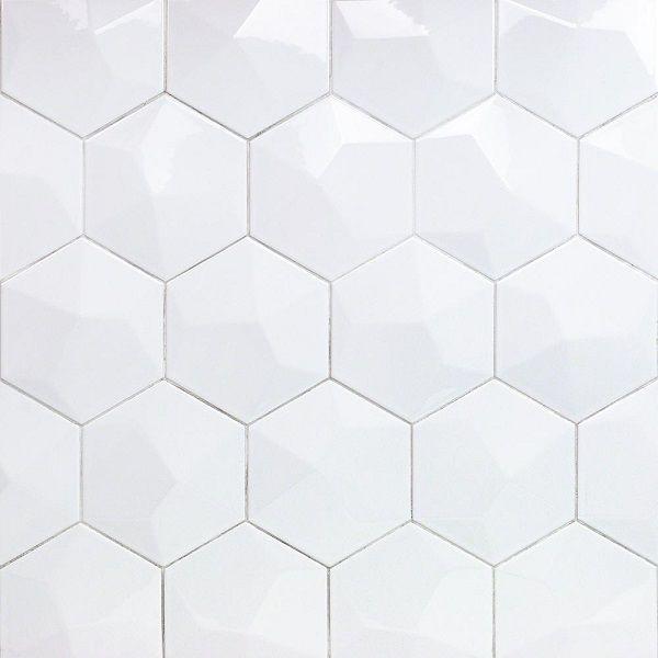 Map gạch lục giác trắng bóng cho gia chủ ưa thích sự nổi bật