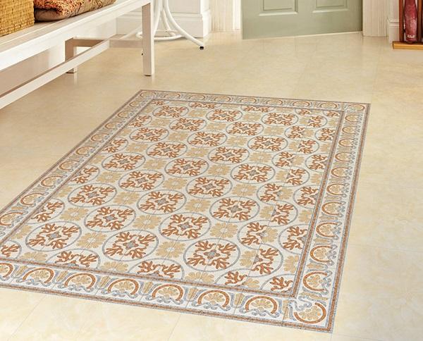 Không cần đến thảm, gạch bông 20x20 vẫn khiến sàn nhà trở nên ấn tượng