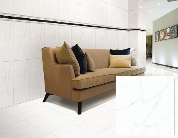mẫu gạch lát sàn màu trắng kích thước 25x25 sang trọng