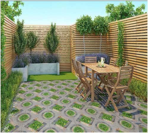 Gạch giả cỏ cũng là lựa chọn tối ưu cho không gian trồng cây