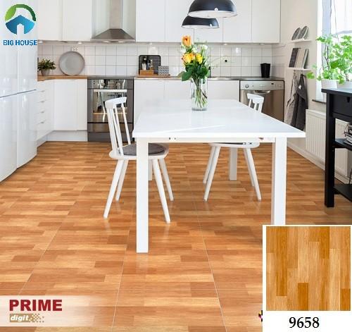 Gạch lát nền nhà bếp giá gỗ nhẹ nhàng