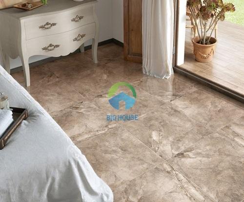 mẫu gạch lát nền phòng ngủ đẹp vân đá