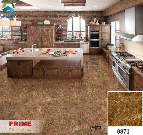 Mẫu gạch lát nền nhà bếp vân đá