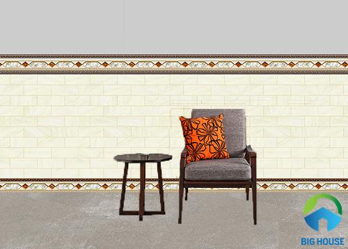 mẫu gạch ốp chân tường phòng khách đẹp mắt