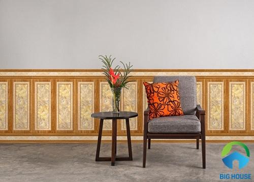 mẫu gạch ốp chân tường phòng khách ấn tượng 3