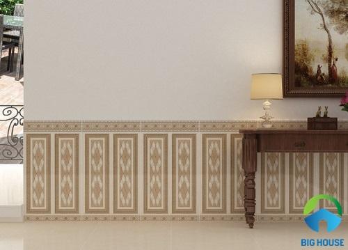 mẫu gạch ốp chân tường phòng khách ấn tượng đẹp mắt