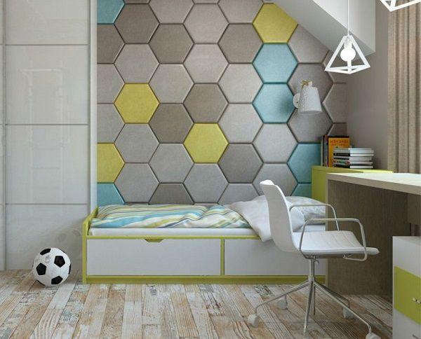Gạch lục giác nhiều màu mang đến sự mới lạ cho phòng ngủ