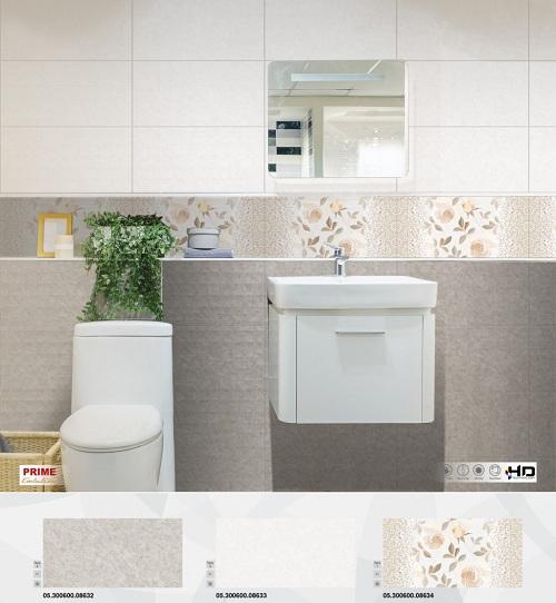 Gạch đậm điểm nhạt ốp tường nhà tắm