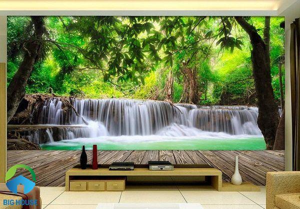 Cả một không gian thiên nhiên tươi đẹp cho phòng khách