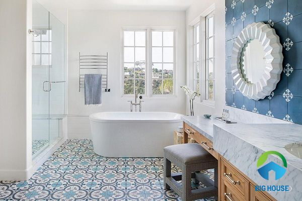 phối màu gạch nhà tắm
