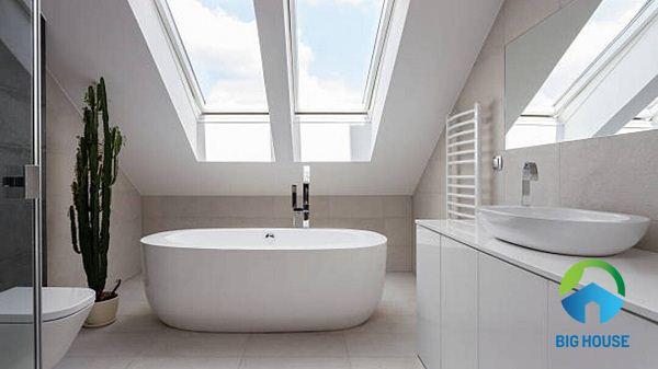 phối màu gạch ốp lát nhà tắm đơn giản