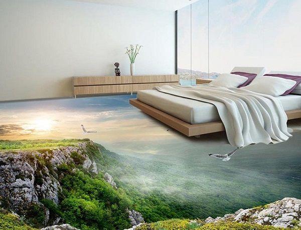 gạch lát nền 3d phòng ngủ đẹp mắt
