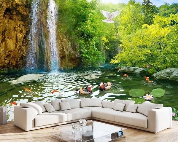 tranh gạch 3d phong cảnh thiên nhiên đặc sắc