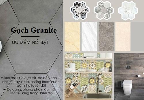 Ưu điểm của gạch granite